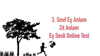 3. Sınıf Eş Anlam Zıt Anlam Eş Sesli Online Test