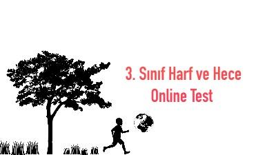 3. Sınıf Harf ve Hece Online Test (15 Soru)