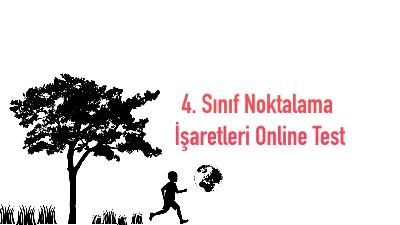 4. Sınıf Noktalama İşaretleri Online Test