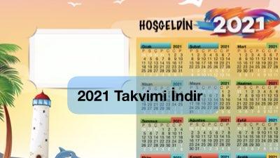 2021 Takvim Şablonu ( Özel Tasarım)