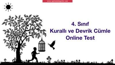 4. Sınıf Kurallı ve Devrik Cümle Online Test