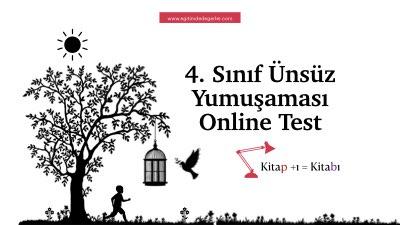 4. Sınıf Ünsüz Yumuşaması Online Test