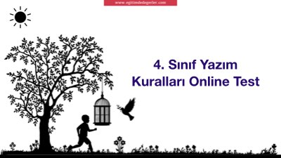 4. Sınıf Yazım Kuralları Online Test