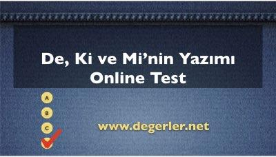De Ki ve Mi'nin Yazımı Online Test